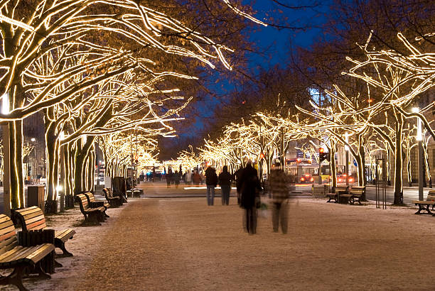 berlin unter den linden christmas stock photo