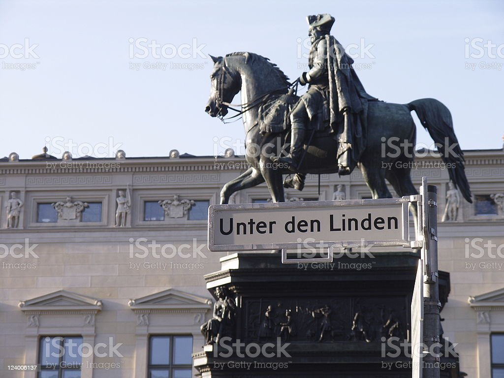 Berlin Unter den Linden stock photo