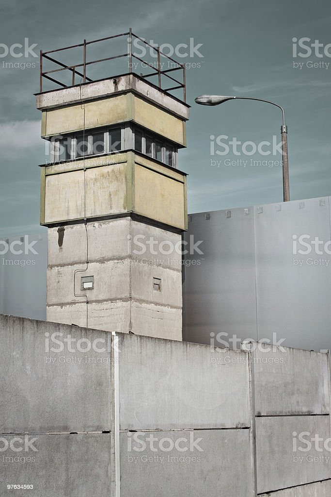 Berlin Wall and Watch Tower, Germany royalty-free stock photo