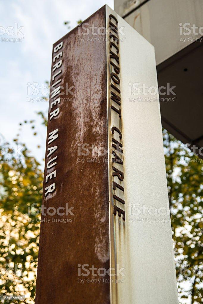 Berlin Wall, Checkpoint Charlie, Berlin, Germany stock photo