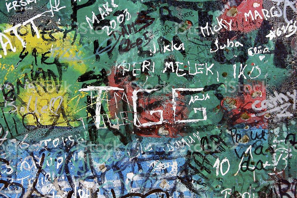 Berlin Wall close-up stock photo