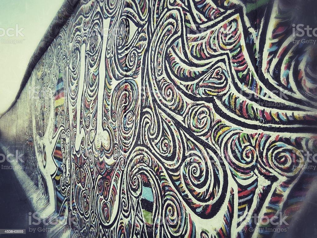 Berliner Mauer farbenfrohes detail – Foto