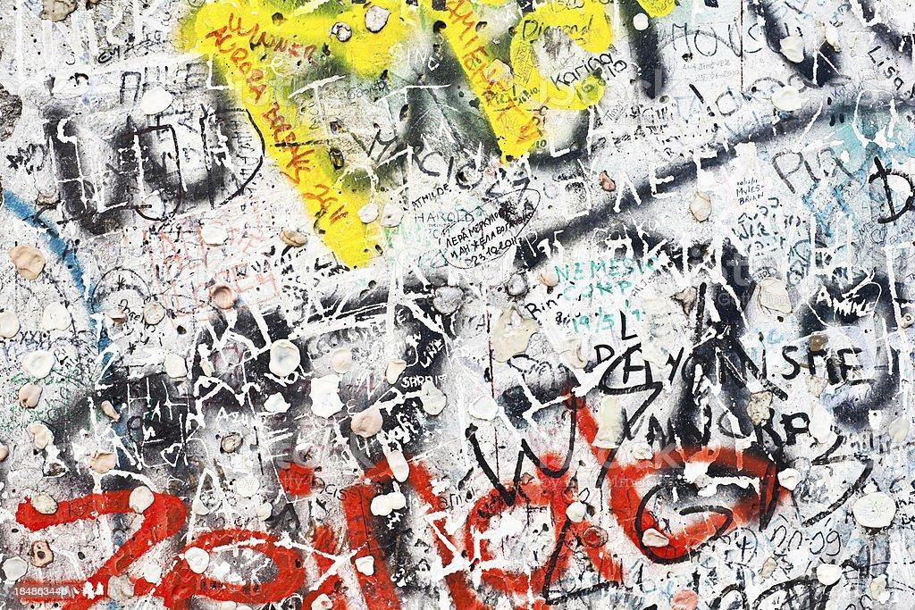 Berlin Wall Graffiti, Germany stock photo