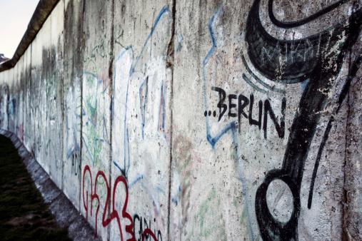 Berlin wall in the Bernauer street Germany