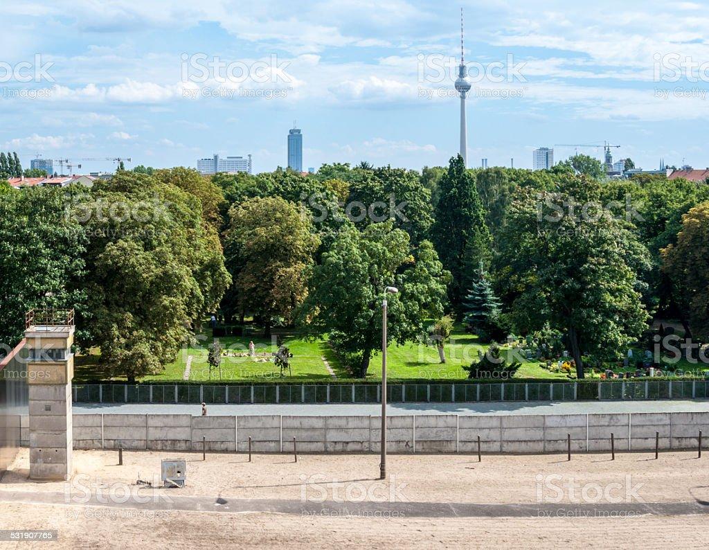 Berlin Wall Memorial stock photo