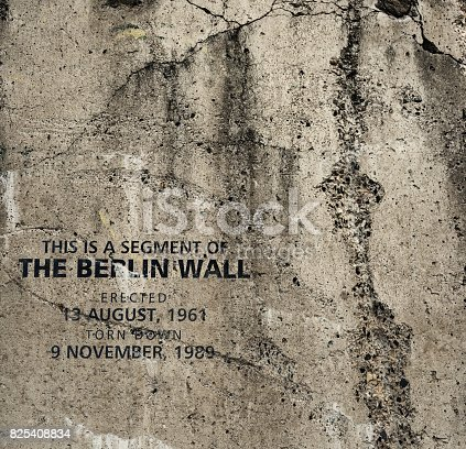 A section of the Berlin Wall displayed for the public in Lunenburg, Nova Scotia.