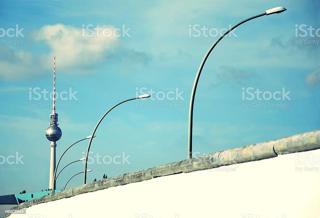 Berlin Wall retro stock photo