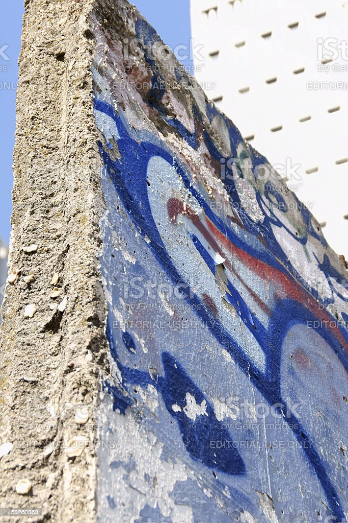 Berlin Wall ruins in Potsdam Square royalty-free stock photo