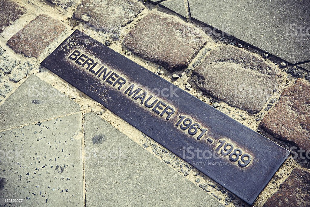 Berlin Wall Sign royalty-free stock photo