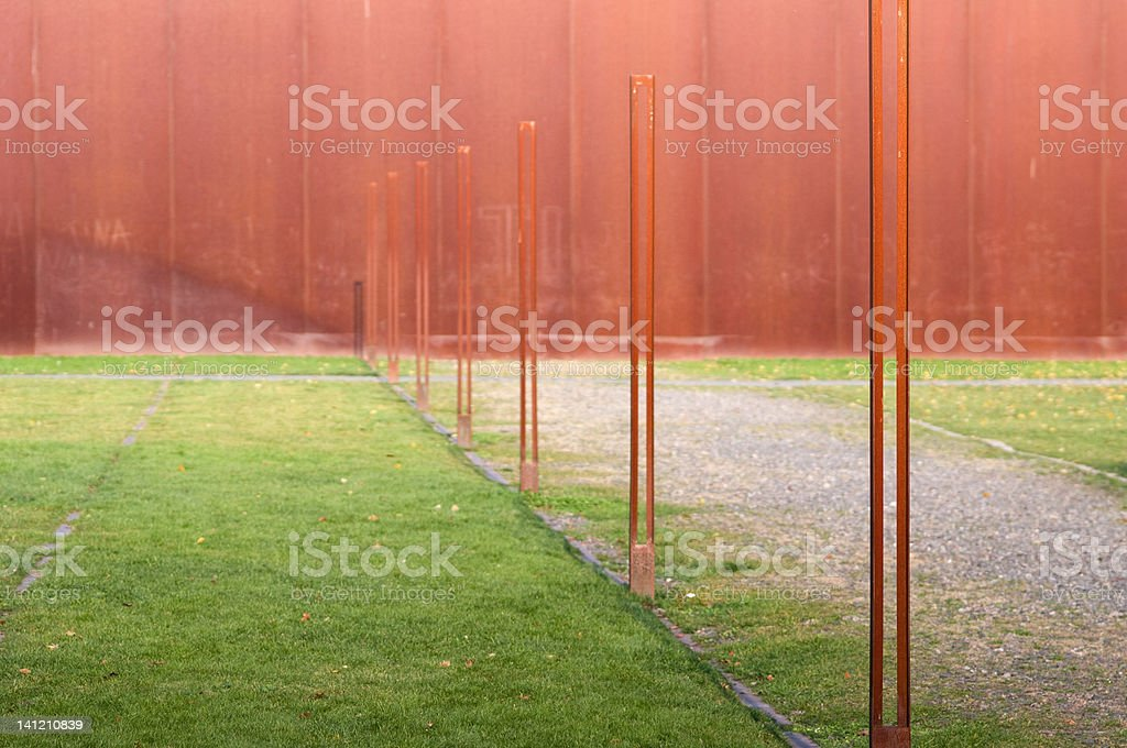 Berlin wall simplified royalty-free stock photo