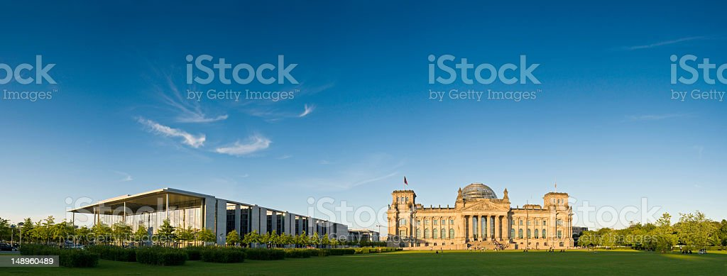 Berlin warm sunlight on Reichstag royalty-free stock photo