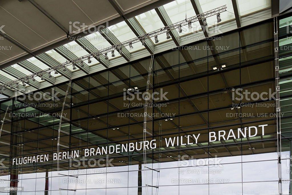 Berlin-Brandenburg International Airport stock photo