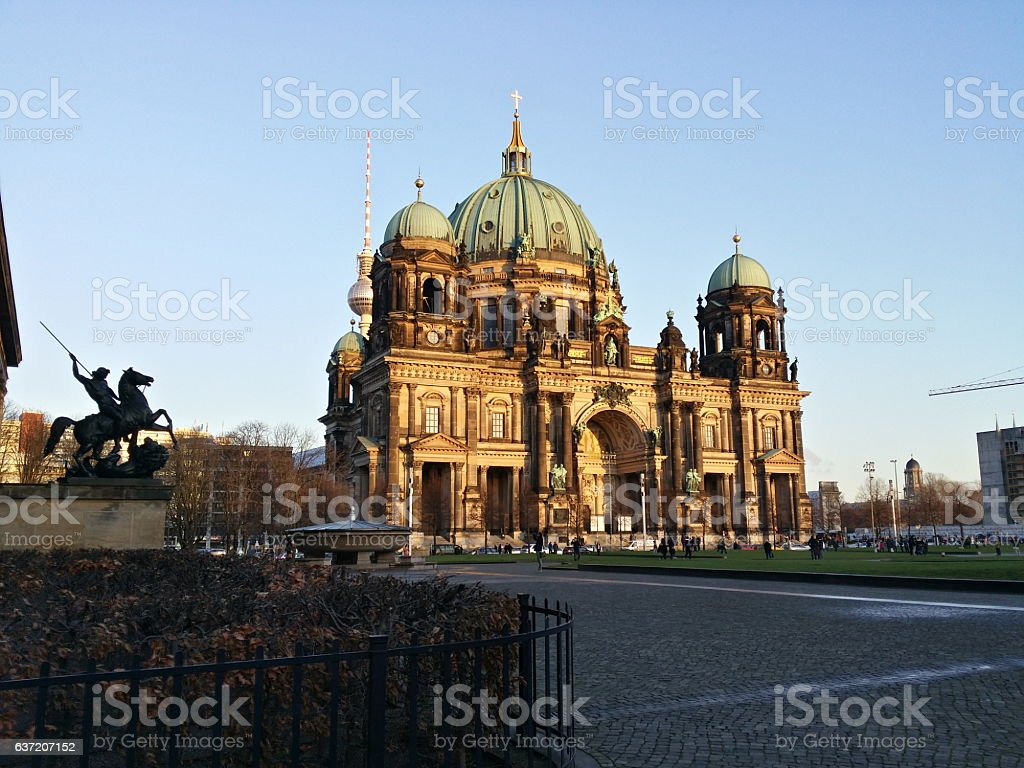 Berliner Dom in all his glory stock photo