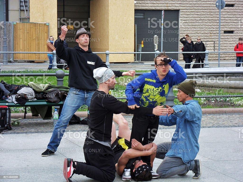 Berlino - Artisti di strada foto stock royalty-free
