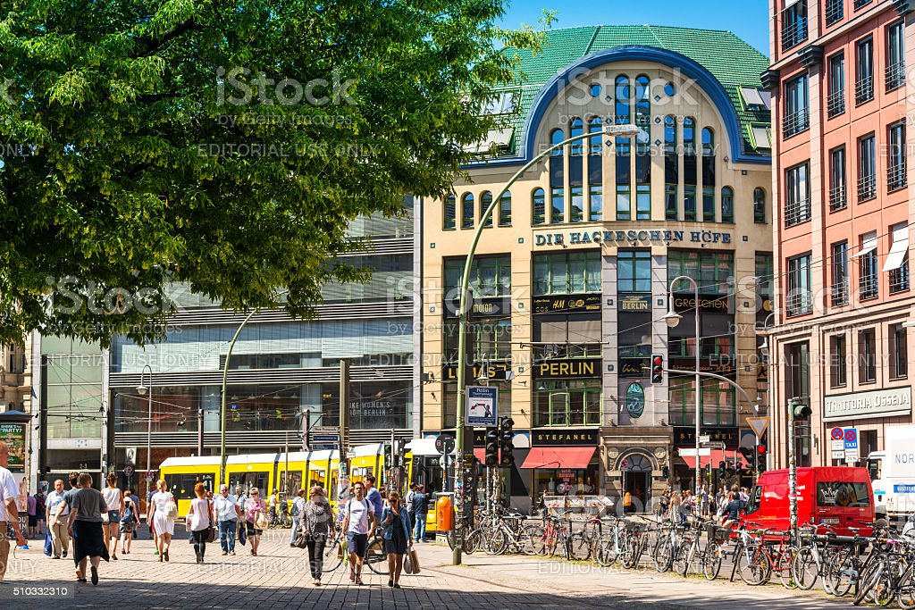 Berlin's central Mitte district Hackescher Markt stock photo