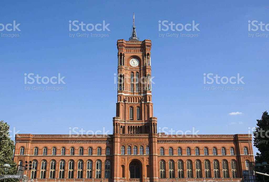 Berlins townhall on a sunny day stock photo