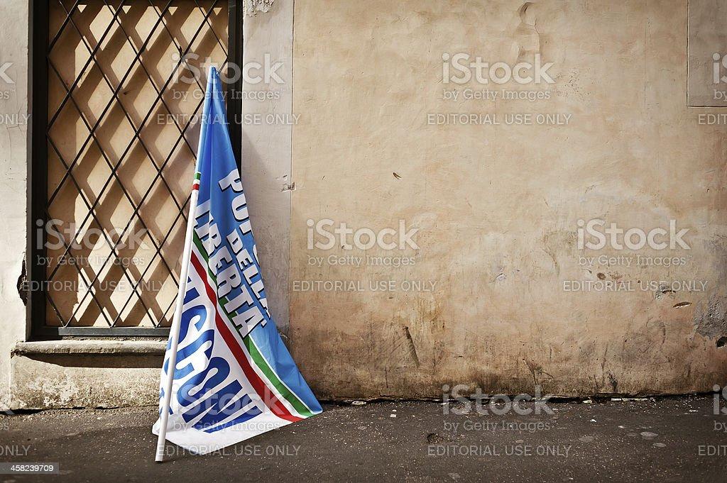 Bandiera di Berlusconi - foto stock