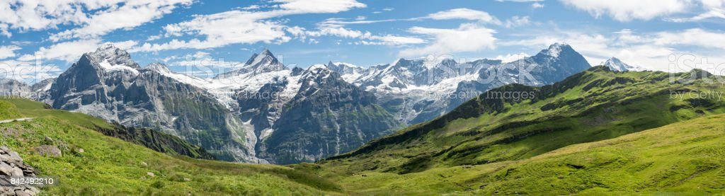 Bermese Alps near Grindelwald in Switzerland stock photo