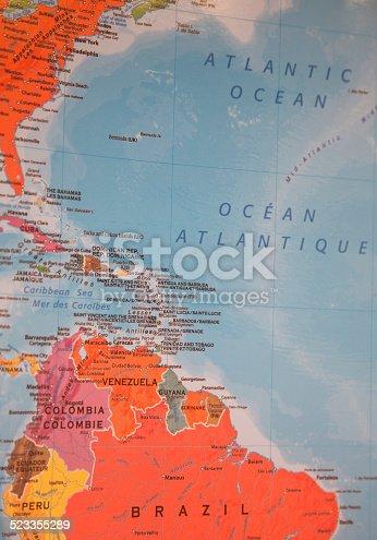 istock Bermuda Atlantic Map 523355289