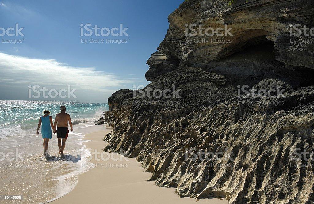 Bermuda, Elbow Beach sênior de ginástica - foto de acervo