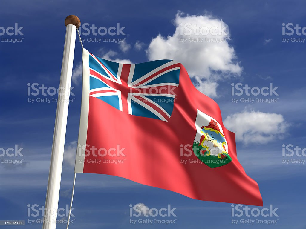Bermuda flag (with clipping path) stock photo
