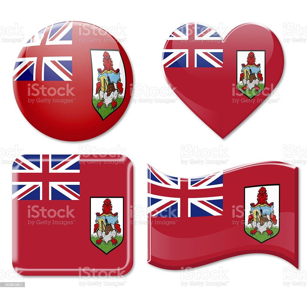 Bermuda Flags & Icon Set stock photo