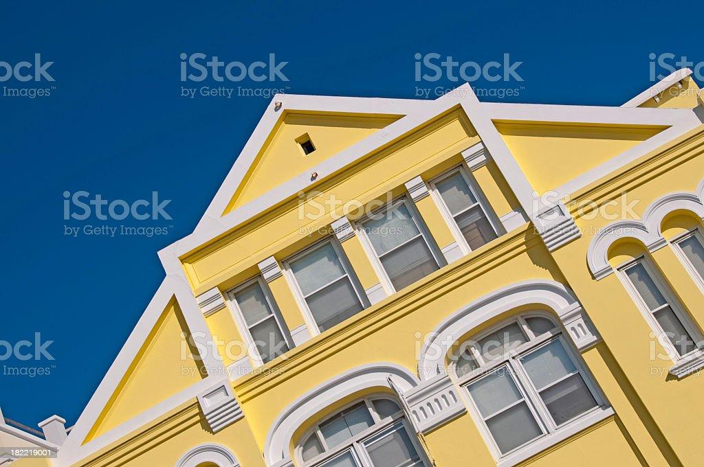 Bermuda Reatail Building Roof and Dark Sky stock photo