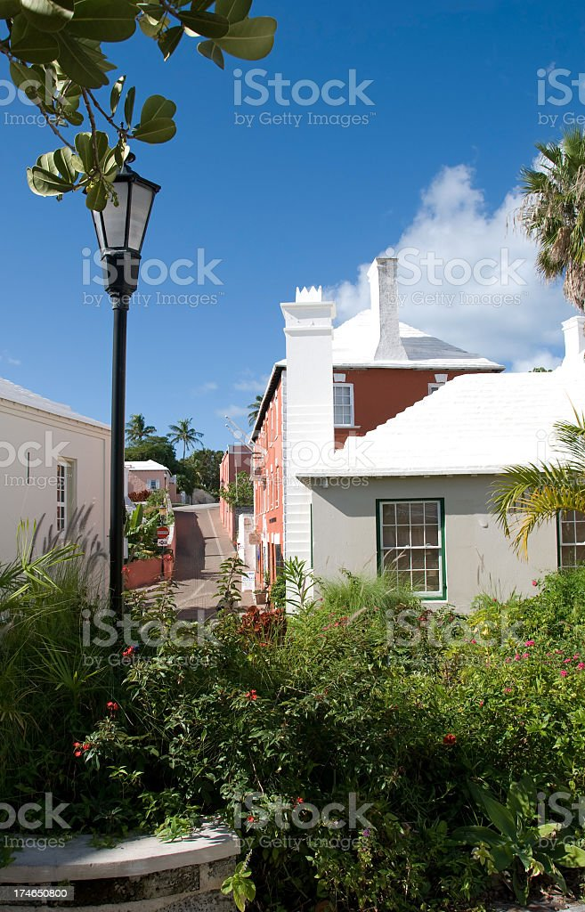 Bermuda Rural Street stock photo