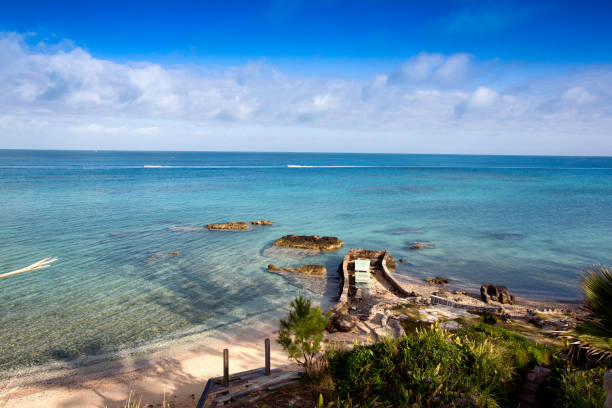 Bermuda Secluded Beach stock photo