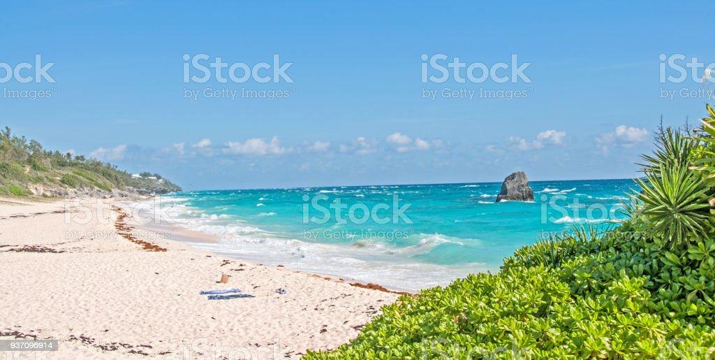 Bermuda South Trail along Elbow beach area stock photo