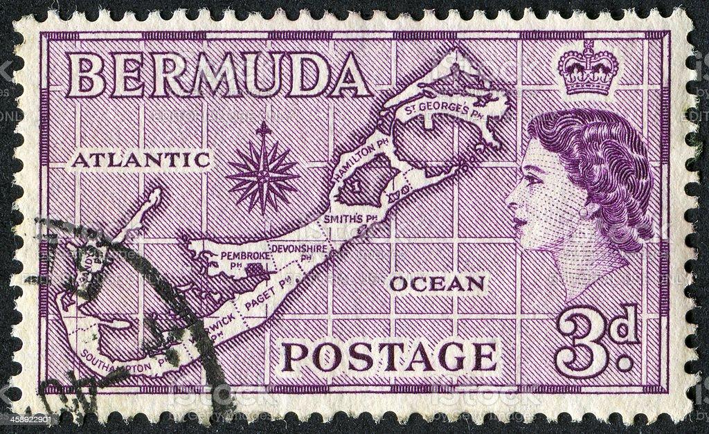 Bermuda Stamp royalty-free stock photo