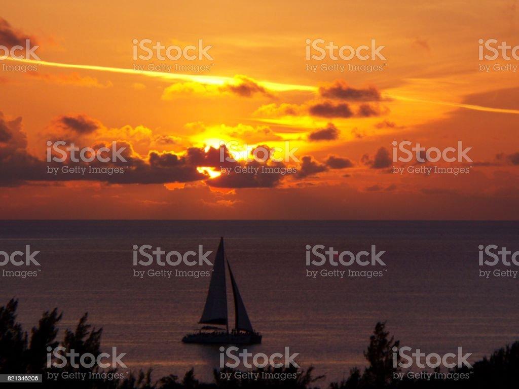 Bermuda Sunset stock photo