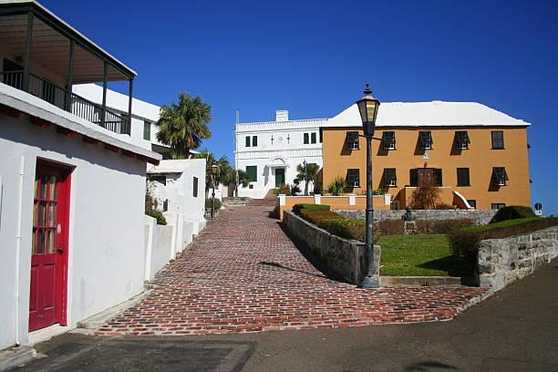 Bermuda Town stock photo