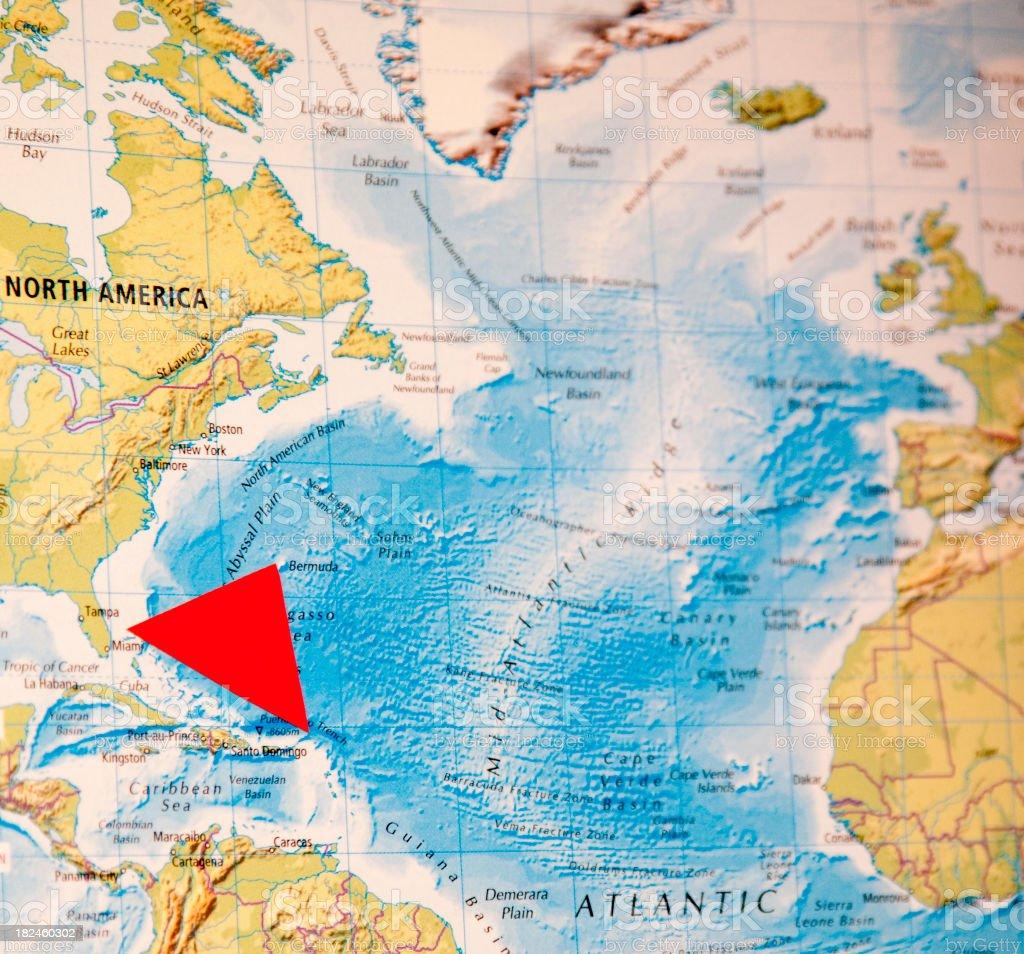 triángulo de las Bermudas foto de stock libre de derechos