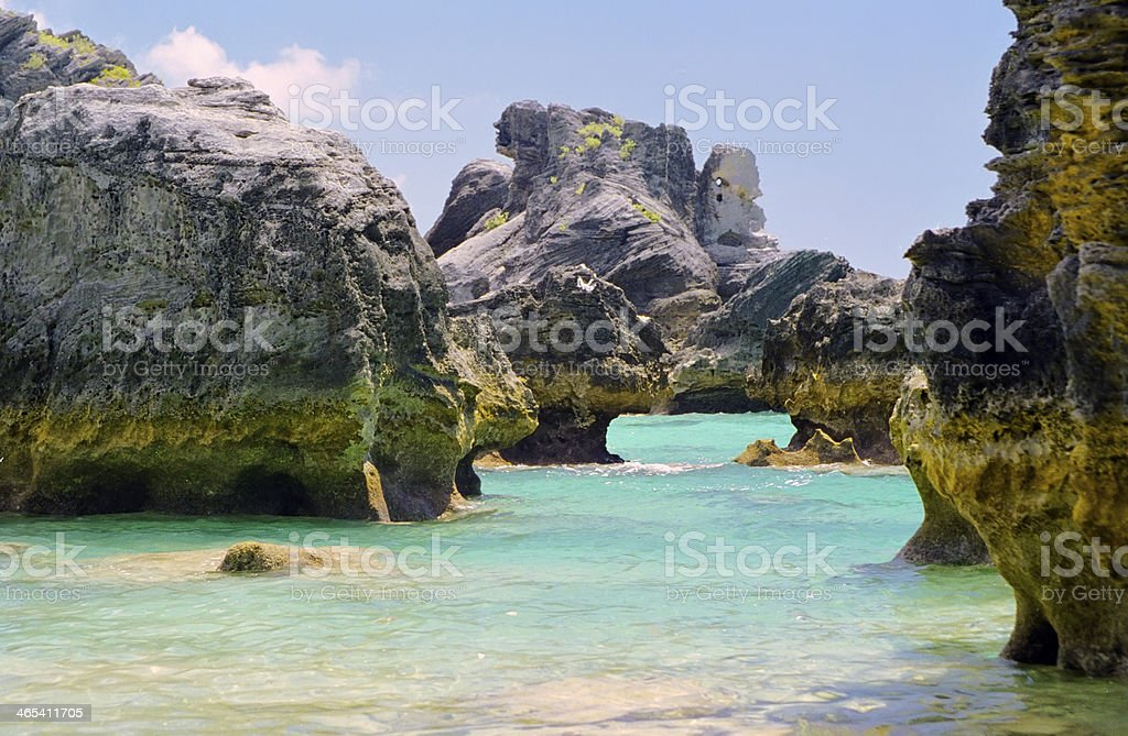 Bermuda Water stock photo
