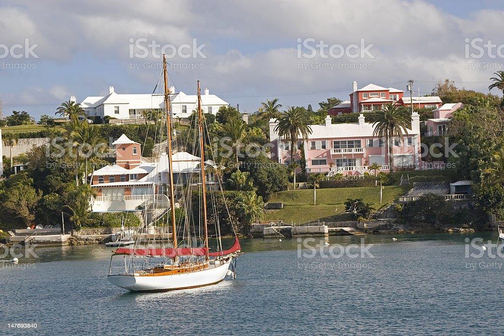 Bermuda Waterfront stock photo