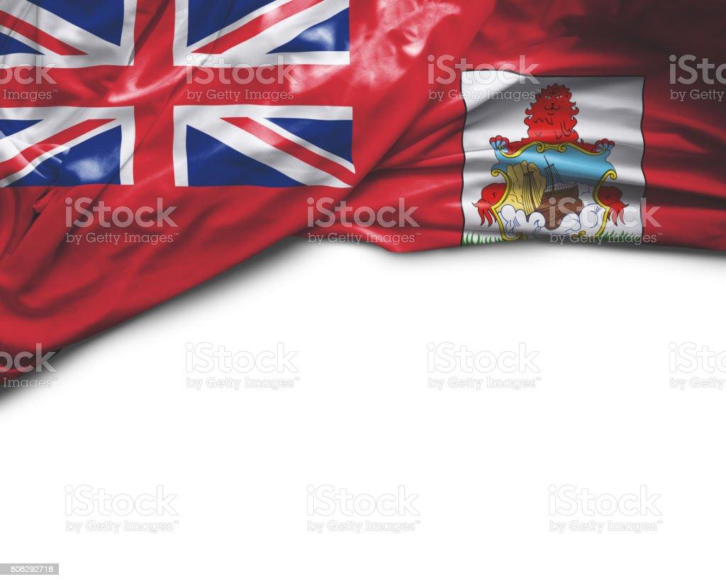 Bermuda waving flag stock photo