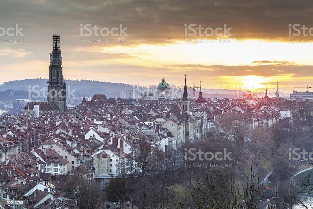 Bern at Sunset, HDR stock photo