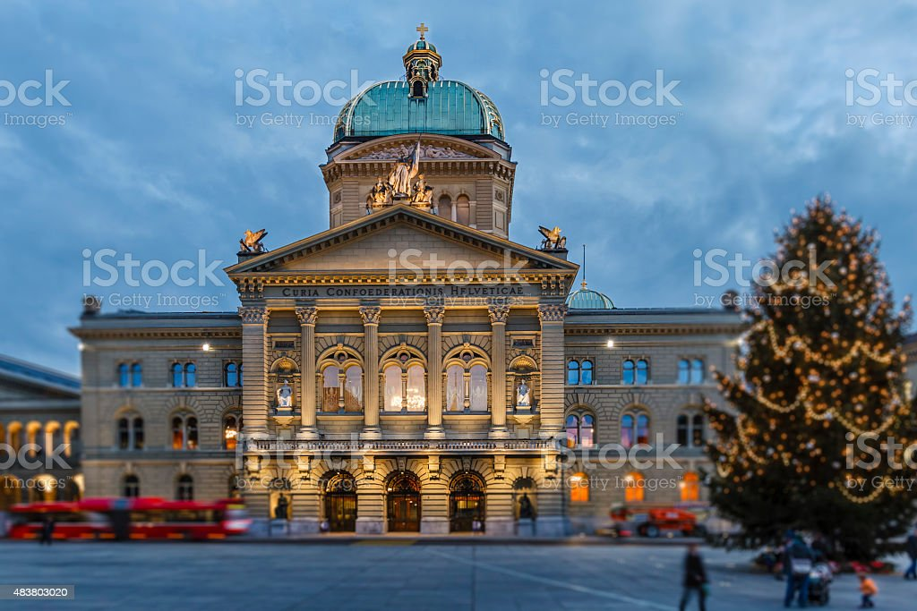 Bern, Federal Palace - Switzerland stock photo