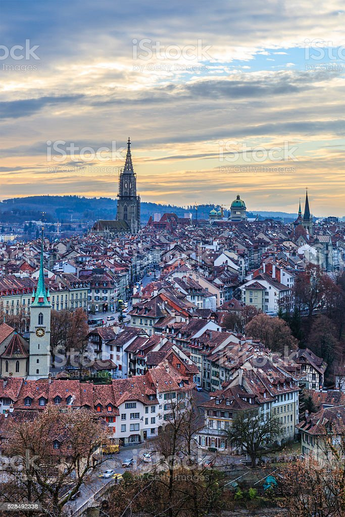 Bern from above - Switzerland stock photo