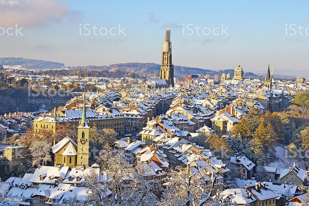 Bern in winter stock photo
