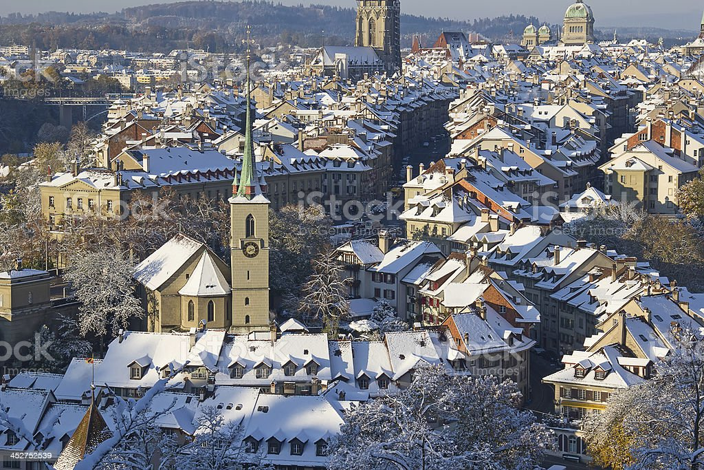 Bern in winter royalty-free stock photo
