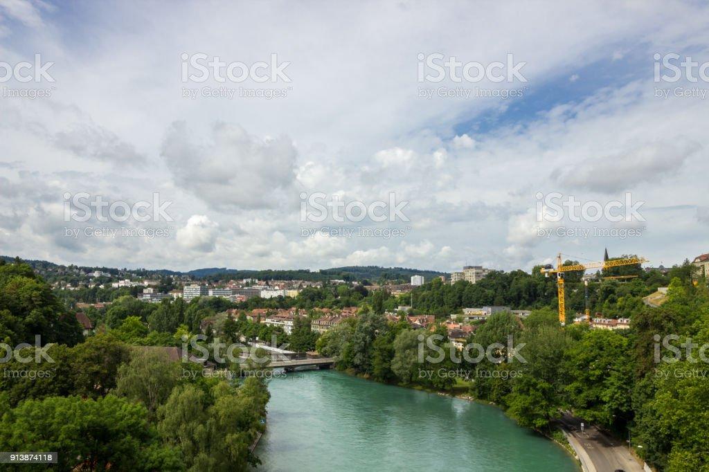 Bern is the capital of Switzerland stock photo