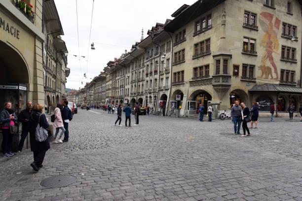 Bern Marktgasse stock photo