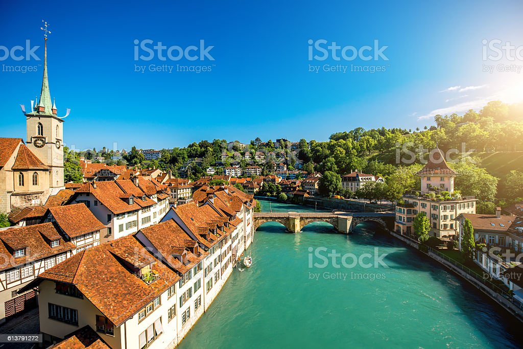 Bern old town in Switzerland – Foto