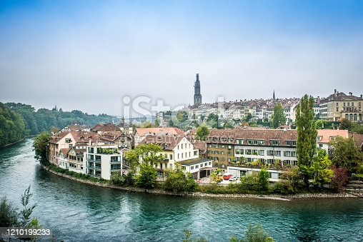 Bern Panorama In Switzerland