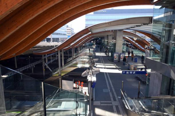 Bern Railway Station stock photo