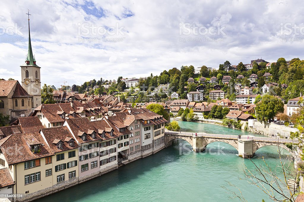 Bern River, Switzerland stock photo