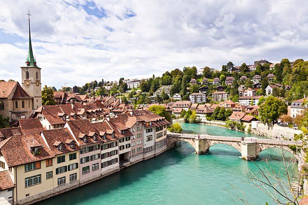 Bern River, Switzerland stock photo