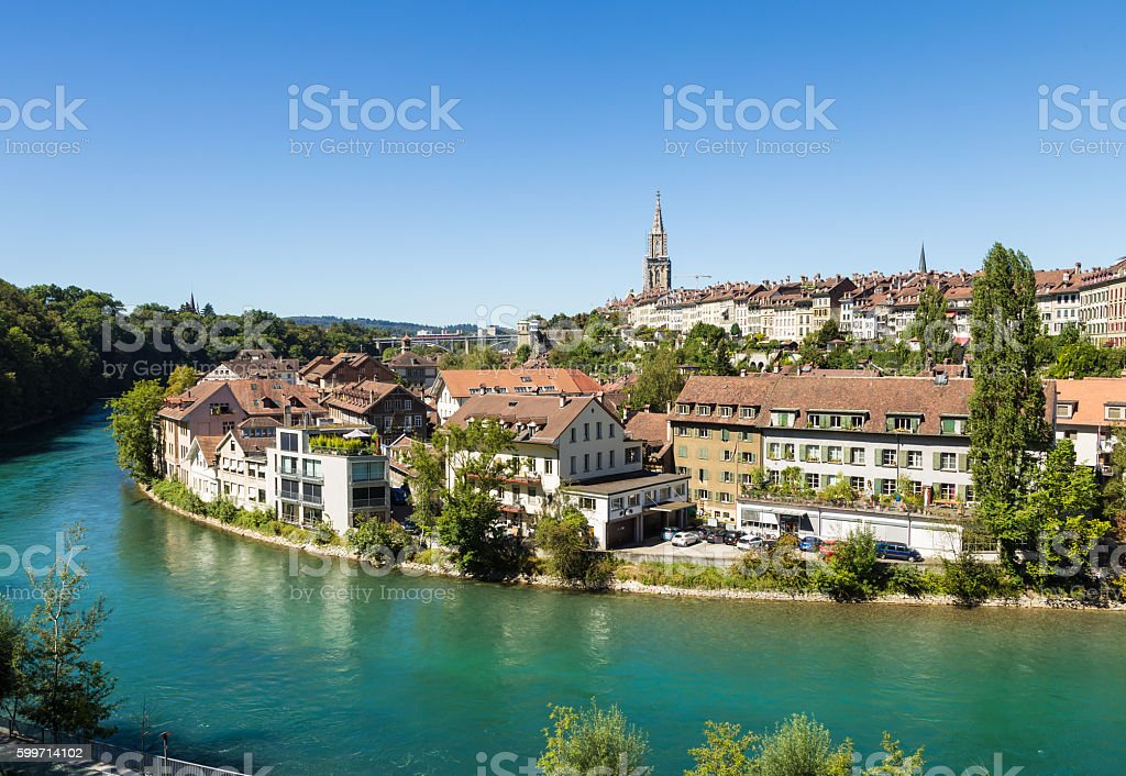 Bern, Switzerland capital city stock photo